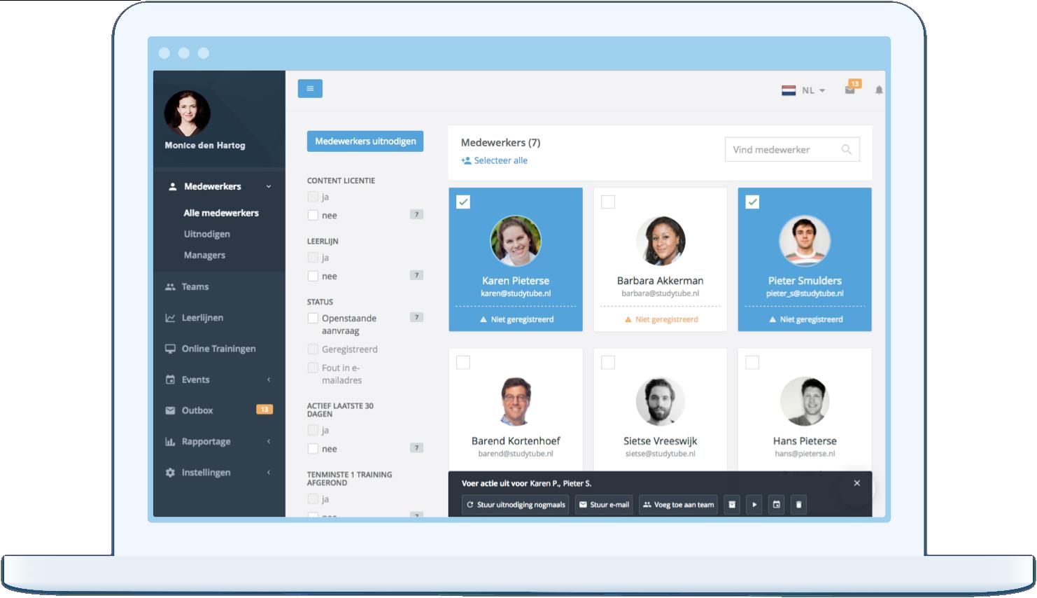 Learning management systeem Studytube: Behaal leerdoelstellingen