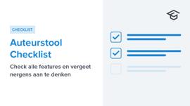 Auteurstool Checklist