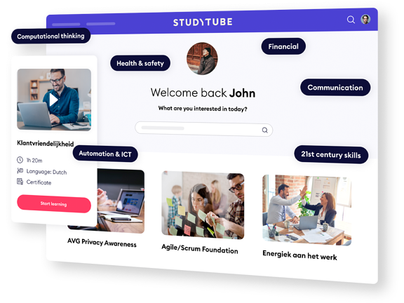 Enhanced screenshot of the Studytube discovery page
