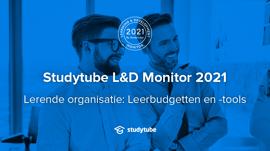 Studytube L&D Monitor 2021: Leerbudgetten en -Tools