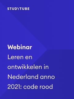 Webinar Leren en ontwikkelen in Nederland anno 2021: code rood