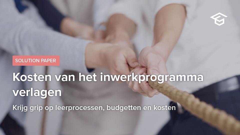 Kosten van het inwerkprogramma verlagen