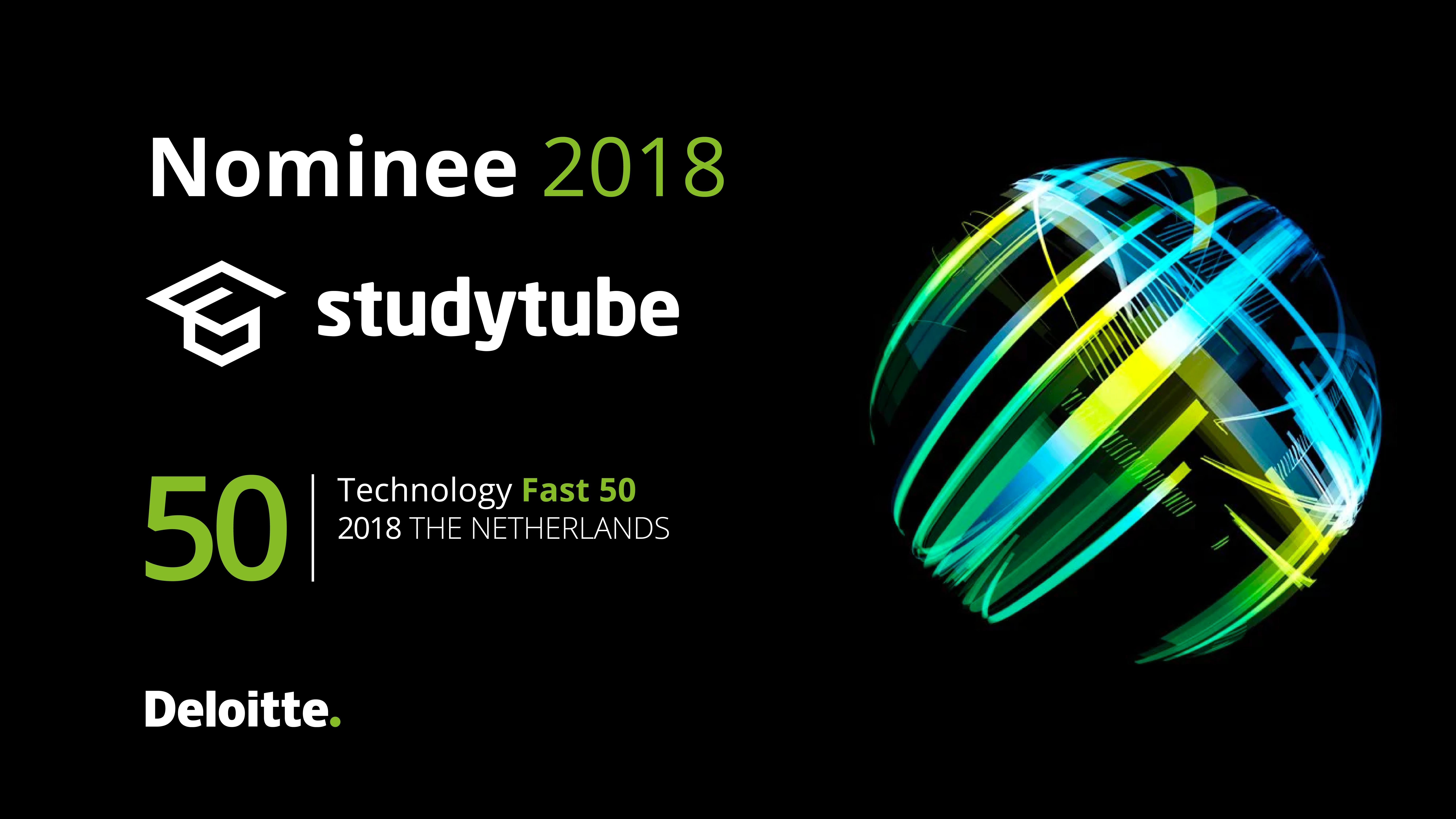 Studytube weer genomineerd voor Deloitte Technology Fast 50